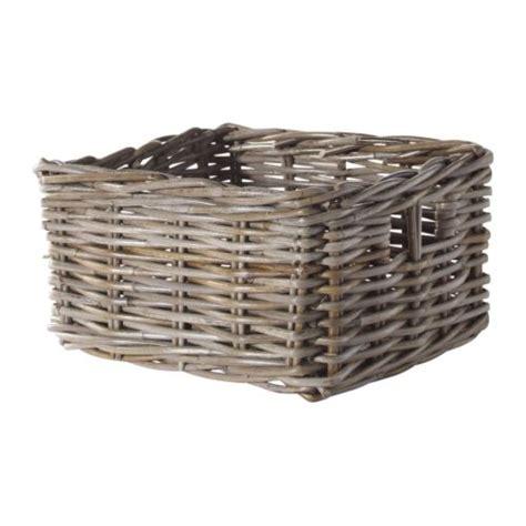 ikea bathroom basket byholma basket grey 25x29x15 cm ikea