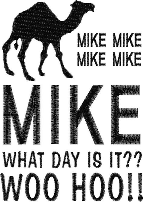 day what is it about items similar to mike what day is it it s hump day