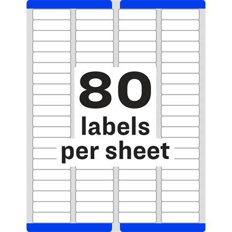 Avery Return Address Labels 80 Per Sheet Template The Hakkinen 80 Label Template