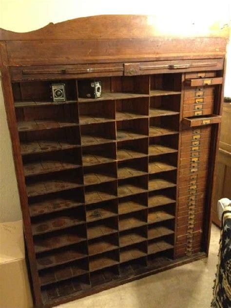 estatesalesnet antique hotel key cabinet