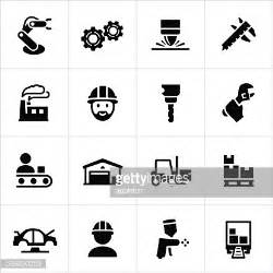 production symbols manufacturing icons vector getty images