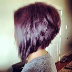 angled haircuts front and back carr 233 plongeant et coloration avec reflets violets