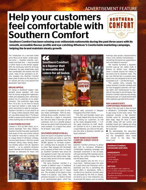southern comfort menu help your customers feel comfortable with southern comfort
