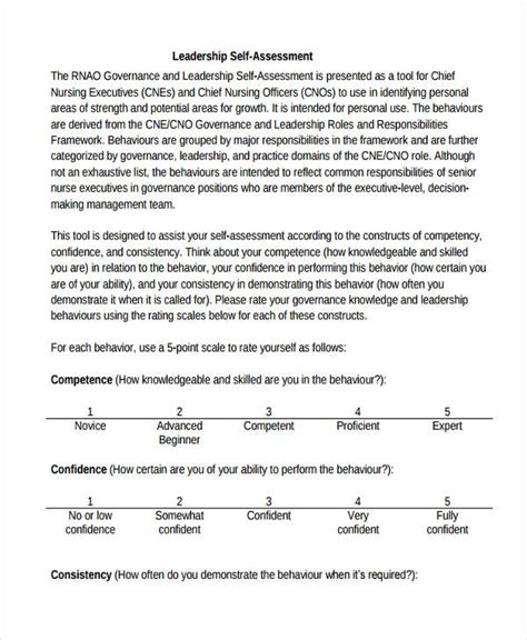 34 self assessment exles sles pdf doc pages