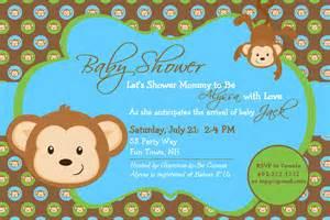 Baby shower invitations free printable baby shower monkey invitations