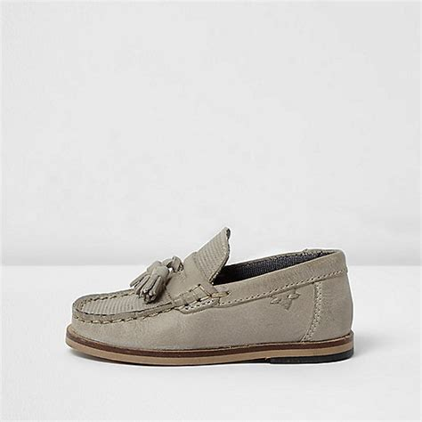 loafers baby boy mini boys grey leather tassel loafers baby boys shoes