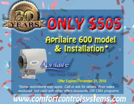 comfort control green bay indoor air quality specials in green bay wi