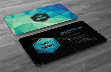 creative modern polygon business card  badbugs