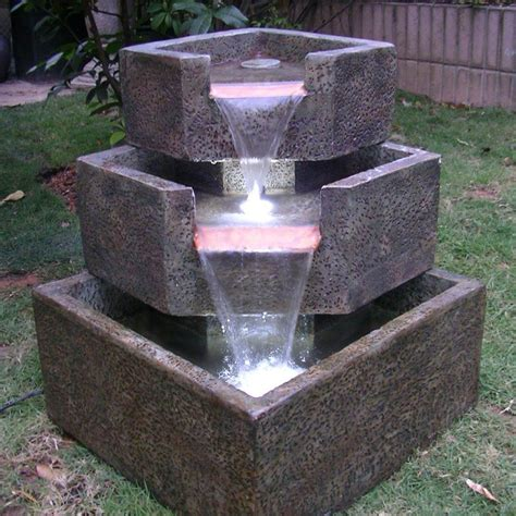 water fountains for small backyards small solar water fountain backyard design ideas