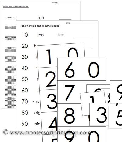 montessori printable free worksheets ten boards ten beads ten worksheets printable