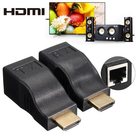 Kabel Hdmi To Hdmi Oximus Versi 20 Panjang 15meter Kualitas Terbaik hdmi adapter rj45 extender 1080p black jakartanotebook