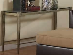 glass and metal sofa table homelegance comfort living sofa table metal and glass 3283