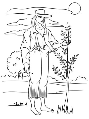 apple seeds coloring pages johnny appleseed coloring page free printable coloring pages