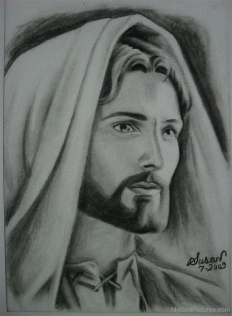 Black And White Drawings Of Jesus by Lord Jesus God Pictures