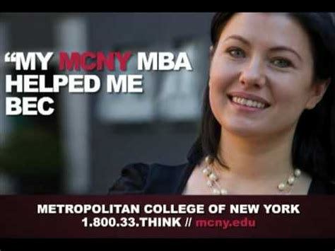 Metropolitan College New York Mba by Metropolitan College Of New York My Mcny Mba