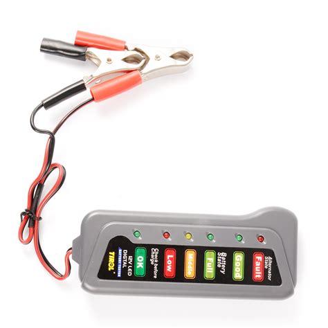 Tirol Tester Baterai Digital 12v 6 Led tirol 12v car batteria alternator tester diagnostic digital 6 led display ma494 ebay