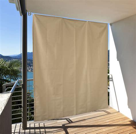 balkon vorhang balkon sichtschutz vertikal balkonsichtschutz sonnenschutz