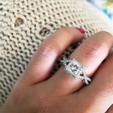 Twisted Band Engagement Ring - top 10 twisted shank engagement rings