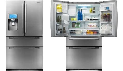 Samsung Door Refrigerator With Wifi by Samsung Refrigerators Come With Lcd Screen Apps And Wifi