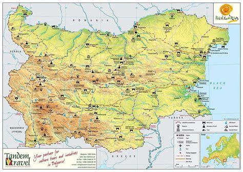 map  bulgaria tandem travel