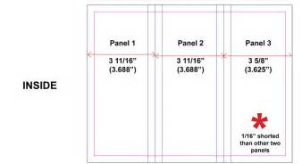 brochure size template how to set up tri fold brochures that fold correctly