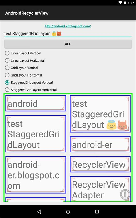staggered layout manager android exle android er staggeredgridlayoutmanager on recyclerview