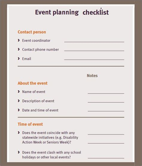 Free Event Planning Checklist Ministry Pinterest Event Planning Checklist And Event Event Planning Email Template