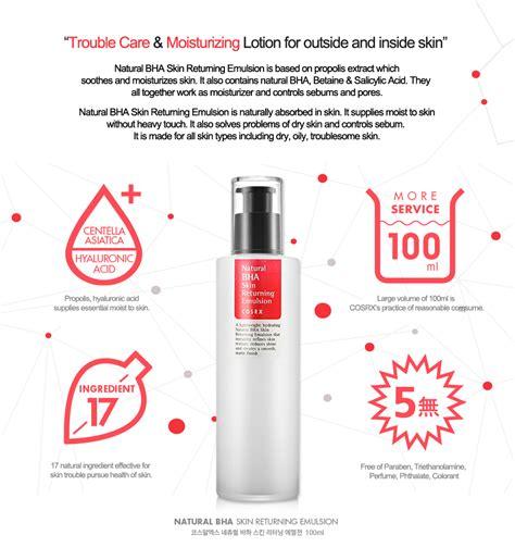 Cosrx Bha Skin Returning Emulsion Murah Cosrx Bha Skin Returning Emulsion 100ml Ebay