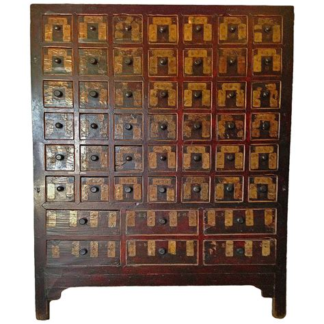 apothecary cabinet massive 19th century chinese antique apothecary chest at