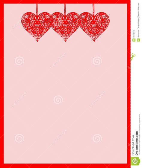 printable stationary with hearts heart stationary royalty free stock photos image 7973318