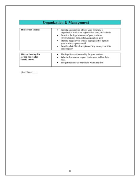 small business plan template pdf