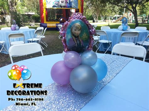 frozen table centerpieces decorations miami frozen decorations balloons