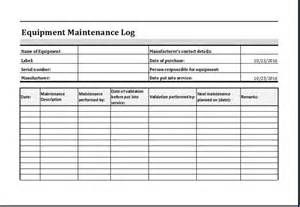 service record template equipment maintenance log template at http www