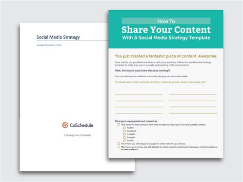 6 Must Have Social Media Templates To Save Your Marketing Efforts And Time Social Media Content Strategy Template
