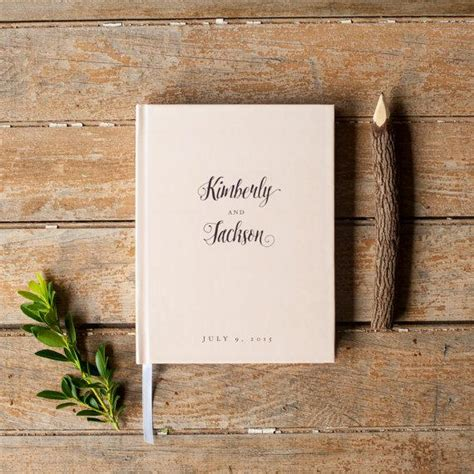 Sign In Book Wedding Blush Pink Wedding Guest Book Wedding Guestbook Custom
