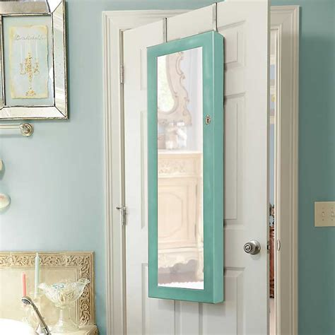 distressed jewelry armoire distressed turquoise jewelry armoire mirror kirklands