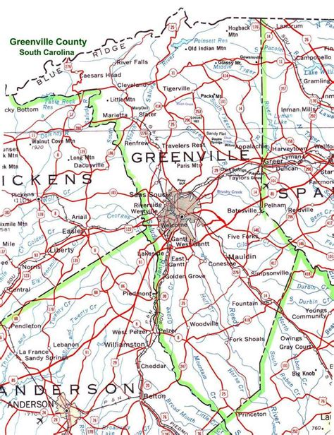 greenville sc map greenville county south carolina part of the usgenweb