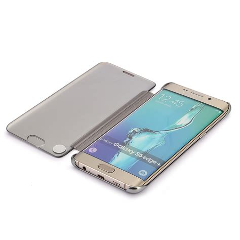 Samsung Galaxy S7 Smart Flip Slim View Mirror Flipcover fr samsung galaxy s6 s7 edge mirror clear view window slim smart flip cover aud 6 30