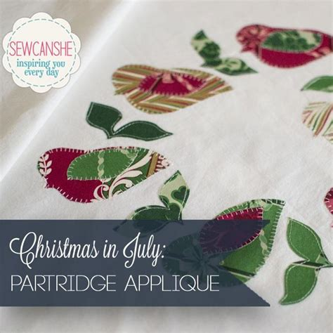 christmas pattern name christmas partridge applique pattern by caroline fairbanks