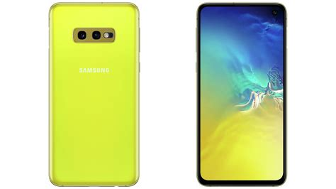 Samsung Galaxy S10 Yellow by High Resolution Galaxy S10e Images In Canary Yellow Show Up Once Again Before Official Launch