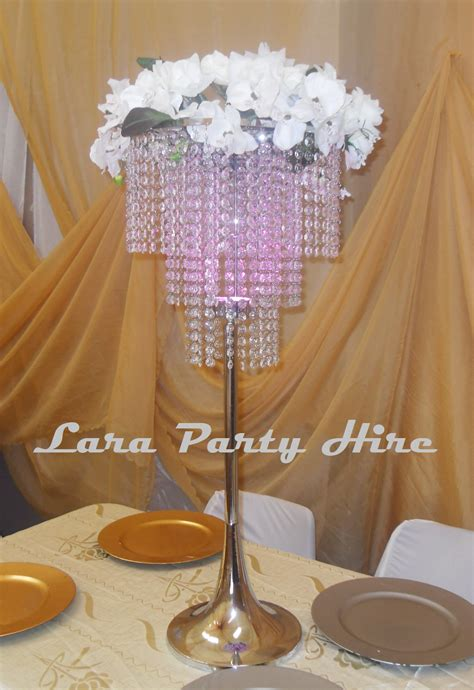 lara hire chandelier table centerpiece