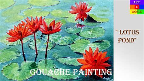 watercolor lotus tutorial 38 lotus flowers gouache painting tutorial lessons
