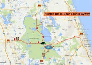 florida scenic drives map a glimpse of the side florida s black