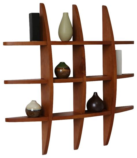 welland globe cross display wall shelf honey