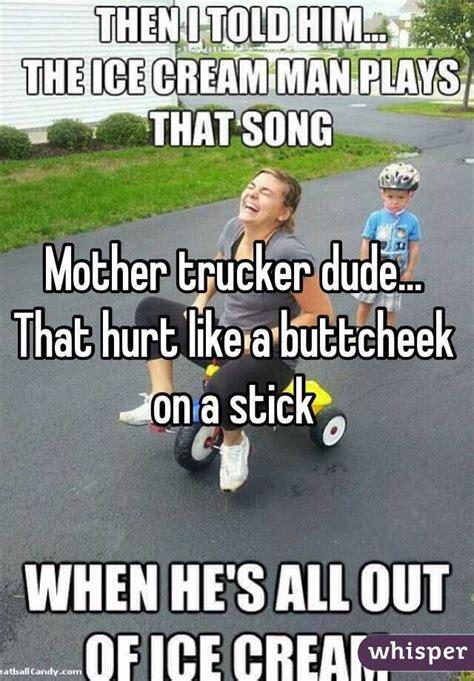 Trucker Dude Trucker Dude That Hurt Like A Buttcheek On A Stick