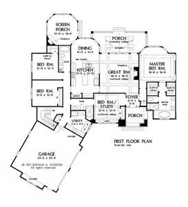 one story open floor house plans one story house plans with split master and open concept