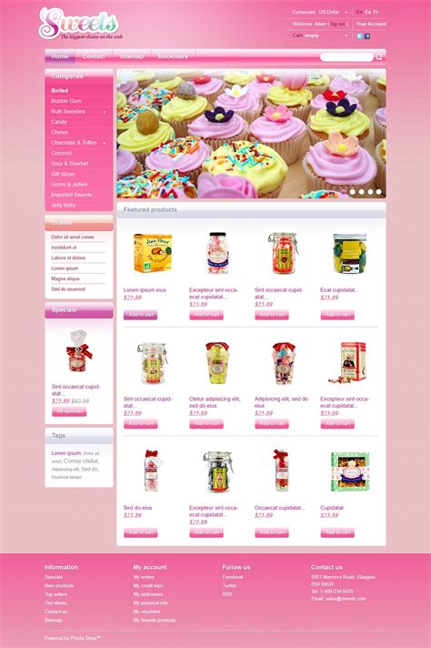 candy shop prestashop theme 43474