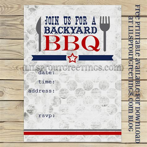 9 Best Images Of Printable Blank Bbq Invitations Bbq Party Invitation Printable Free Free Free Bbq Invitation Template