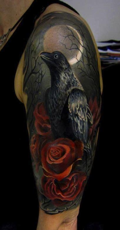40 raven tattoos on sleeve