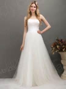 beautiful strapless corset wedding gowns